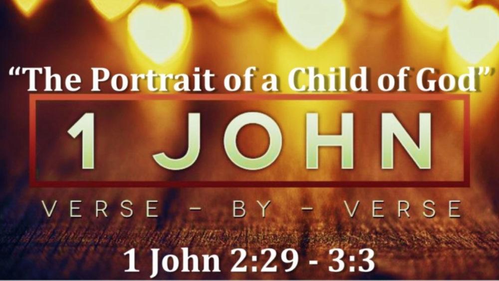 1 John 2 V29 3 V3 The Portrait Of A Child Of God