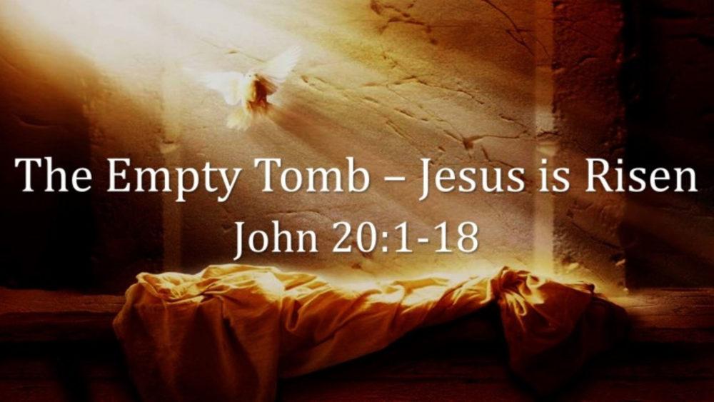 Easter Sunday 2018 John 20 V1 18 Image