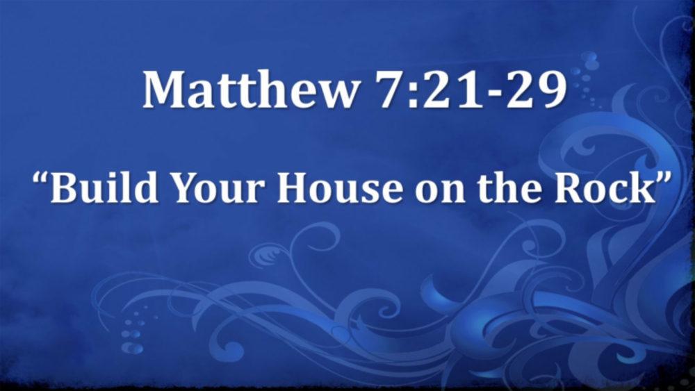 Matthew 7 V21-29