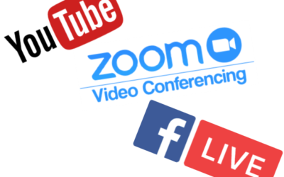 Facebook Livestream, Zoom and YouTube channel